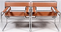 wassily chairs (pair) for knoll international by marcel breuer