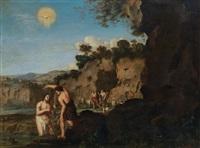 taufe christi im jordan by cornelis van poelenburgh