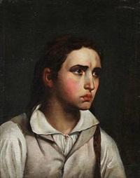 portræt af en ung kvinde (portrait of a young woman) (after c. w. eckersberg) by hans ditlev christian martens