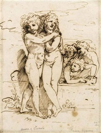 cupid and hymen accompanied by amorini (+ 3 others; 4 works) by andrea appiani