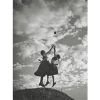 zwei mädchen mit ball (+ book) by jenö dulovits