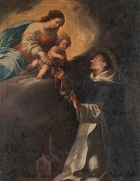 die madonna und das kind überreichen den rosenkranz dem hl. domenikus by anonymous-italian (17)