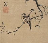 双雀 by bada shanren