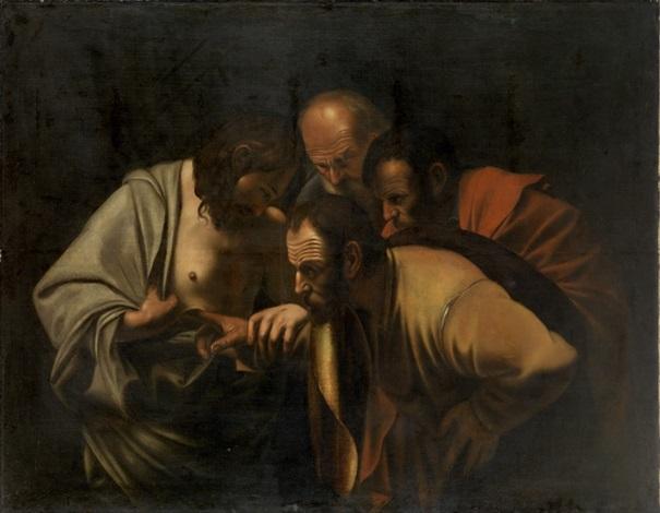 der ungläubige thomas by michelangelo merisi da caravaggio