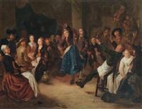 bauernfest im wirtshaus by gerrit lundens