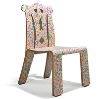 chippendale chair in grandmother's tablecloth by robert venturi