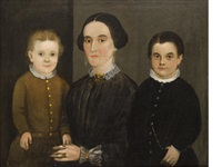 portrait of a mother and two boys by american school-prior-hamblen (19)