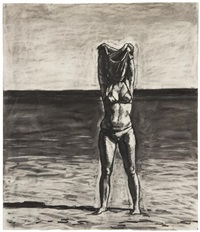 untitled (girl in bikini) by graham nickson