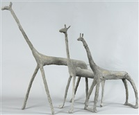giraffen (3 works, various sizes) by ulrich bleiker