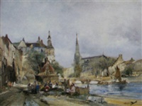 stadt am fluss by leendert de vogl