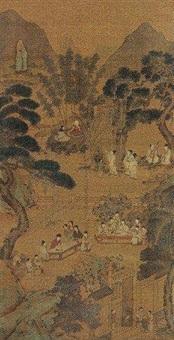 西园雅集 by qiu ying