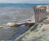 rocky coastal scene by l. aznavourian