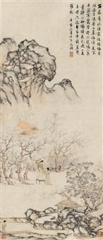 采桑图 by wen zhengming