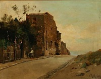 southern street scene by jean d' alheim