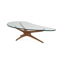 trisymmetric coffee table by vladimir kagan