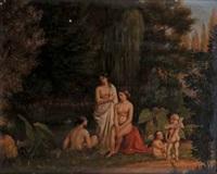 ninfe al bagno con amorini (pair) by italian school-piedmont (19)