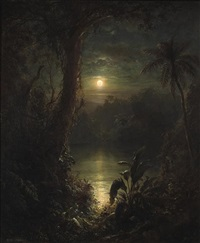 twilight in the tropics (a tropical moonlight) by frederic edwin church