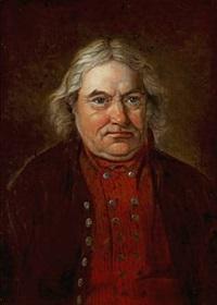peder matisen sallerup 64 i aaret 1841 (portrait of peder matisen sallerup, 64 years old in 1841) by johannes nordhof