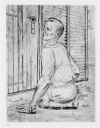 les inutiles (die nutzlosen) (portfolio of 18 w/text) by karl schwesig