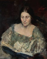 portrait of a woman (inger magnussen?) by herman albert gude vedel