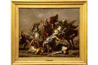 the lion hunt (after rubens) by willem van herp the elder