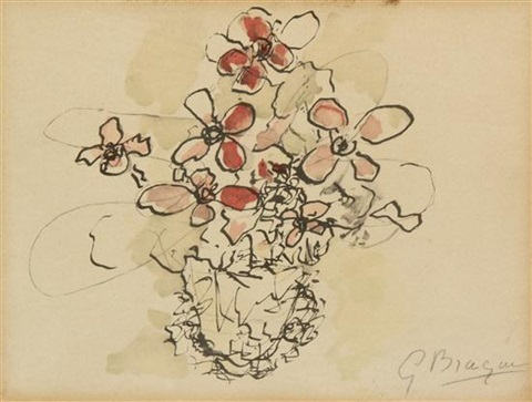 flower study by georges braque