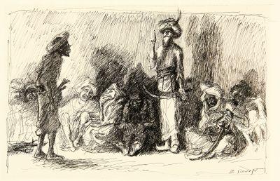 ali baba versammlung der räuber in der höhle by max slevogt