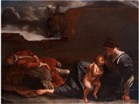 die ruhe auf der flucht nach ägypten by orazio gentileschi
