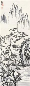 黄山松云 立轴 纸本 by liu haisu
