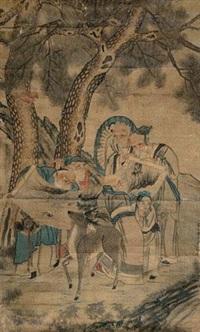 五老图 by gu anren