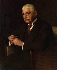 portrait of carl gammeltoft, director of the danish sugar factories by herman albert gude vedel