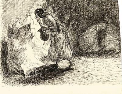 morgiane mit dem siedenden öl (sketch for ali baba) by max slevogt