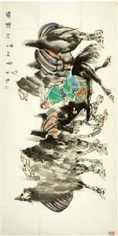 瀚海行图 by liu dawei