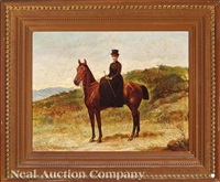 female equestrian by george w. pettit