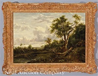 landscape with figures along the creek by patrick nasmyth