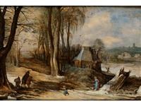 winterlandschaft mit heimkehrenden bauern by joos de momper the younger and jan brueghel the younger