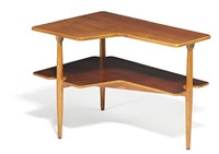 two tier coffee table by kristian solmer vedel