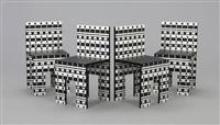 suite de 4 chaises modèle ollo (set of 4) by alessandro mendini