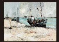 a stranding tricolor ship by françois franc