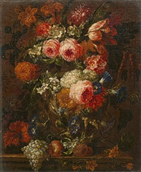 still life with flowers and fruits by gaspar pieter verbruggen the younger
