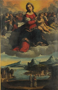 madonna in gloria (pair) by benvenuto tisi da garofalo