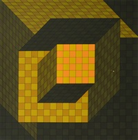 victor vassarely print by victor vasarely