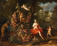 vertumnus and pomona, an allegory of autumn by jan pauwel gillemans the younger