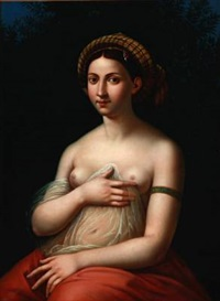la fornarina (after raphael) by andreas ludvig koop