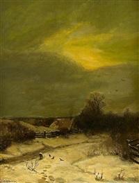 winterabend by sophus jacobsen