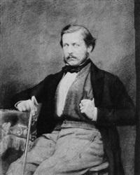 porträt eines herrn mit stock by alois löcherer