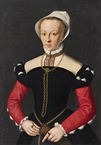 portrait of a young lady by flemish school (16)