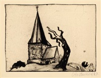 kirche klein by otto pankok