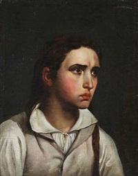 portræt af en ung kvinde (after c. w. eckersberg) by hans ditlev christian martens