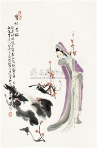 宝琴寻梅 (plum blossom) by wang yisheng